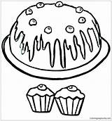 Muffin Coloring Pages Blueberry Drawing Printable Cupcake Clipart Getdrawings Clipartmag Template Getcolorings sketch template
