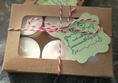 quebec sugarbush soy candle tealights packaged