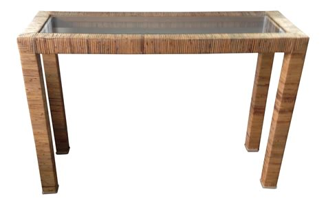 Vintage Rattan Parsons Console Table Simple Cheap Sofa Beds Marshmallow 2 In 1 Flip Open Sesame Street S Elmo Vacuum Cleaner Crate And Barrel Quality York West Elm Review Blue Denim Sofas Free Removal Birmingham Bed Factory Melbourne