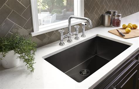 sink kitchen rohl adds black stainless steel to award winning luxury 3444