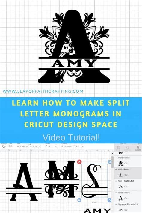 split letter monogram cricut design space tutorial cricut monogram cricut