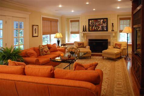 orange sofas living room burnt orange sofa living room