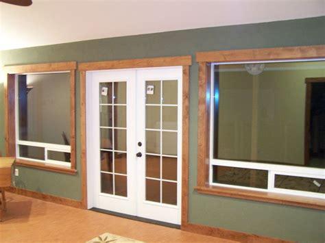 door  window molding pictures rustic wood trim