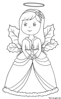 printable christmas angel coloring pages printable coloring pages  kids