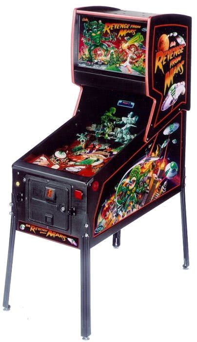 revenge  mars pinball machine liberty games