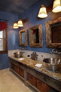 Boys bathroom of hunting ranch by design house inc for Interior paint colors for rustic homes