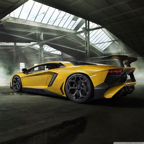 Yellow Lamborghini Aventador Sports Car 4k Hd Desktop