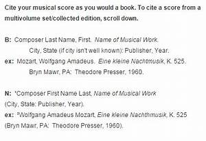 Chicago Style Footnotes Example Scores Music Citations Turabian Chicago Style