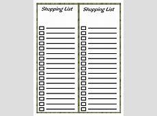 Shopping Lists Print A Workout Calendar