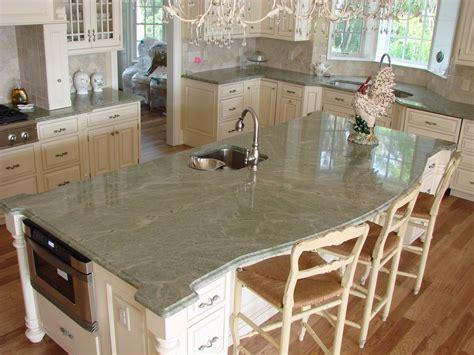 kitchen center island cabinets costa esmeralda granite