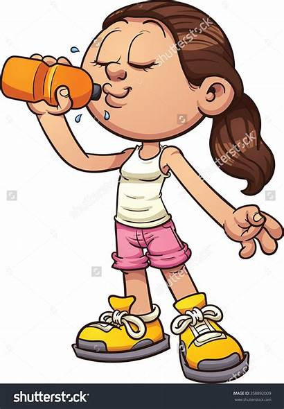 Drinking Water Clipart Bottle Holding Woman Alcohol
