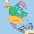 What are the names of the 23 countries in North America ...
