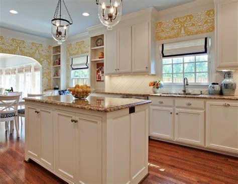 White Kitchen With Dark Brown Countertops