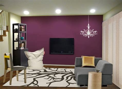 rock  small space   juicy purple accent wall
