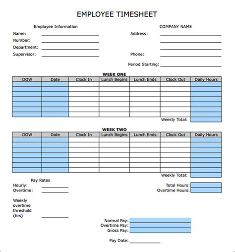 timecard hours time card calculator printable calendar templates