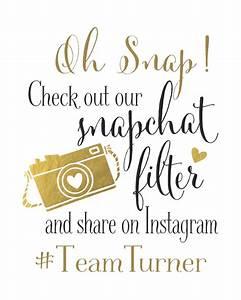 Snapchat Filter Wedding Sign Instagram Wedding by