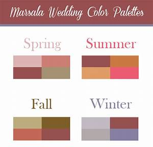 Marsala Wedding Color Palette Inspiration