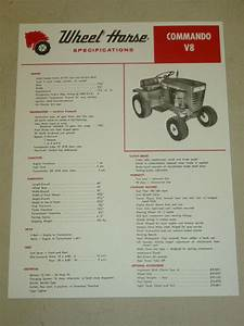 Wheel Horse Tractor Specifications Manual    Model