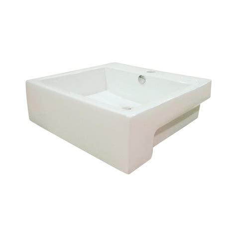 vessel sink with overflow shop elements of design concord white vessel rectangular