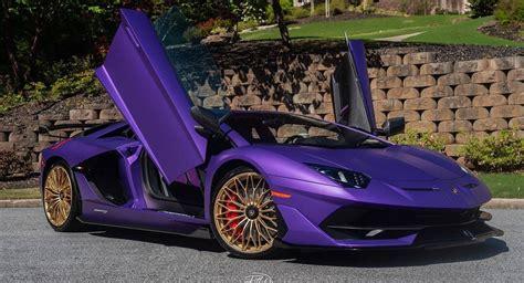 matte purple lamborghini aventador svj