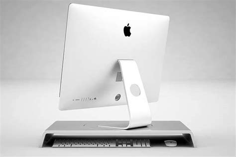 the simple desk imac stand lets you easily rotate your