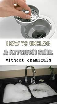unclogging kitchen sink home decor