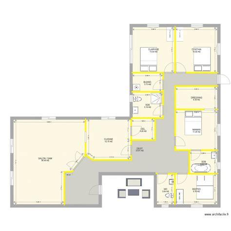 plan maison 3 chambres 1 bureau plan maison plain pied 3 chambres 1 bureau ventana