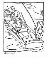 Coloring Pages Fish Printable Boat Fishing Boats Sheets Grandpa Sheet Raisingourkids Colouring Printables Fly Template Lake Books Sea Help Printing sketch template
