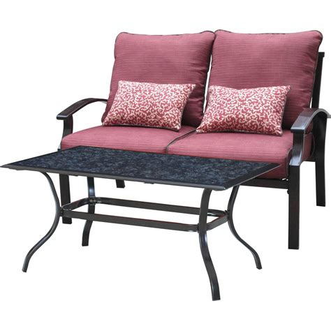 courtyard creations callaway loveseat and table set