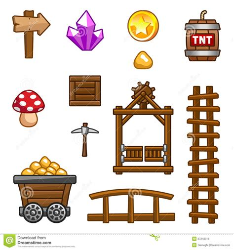 Gamis Gold gold mine assets stock illustration illustration of mine