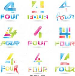 four design royalty free vector of colorful 3d number four 4 logos by cidepix 5202
