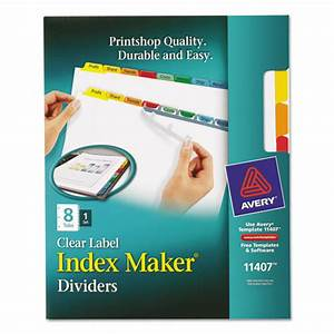 index maker print apply clear label dividers w color With label maker large letters
