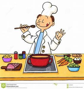 dessin anime d39un cuisinier dans la cuisine image stock With dessin anime de cuisine