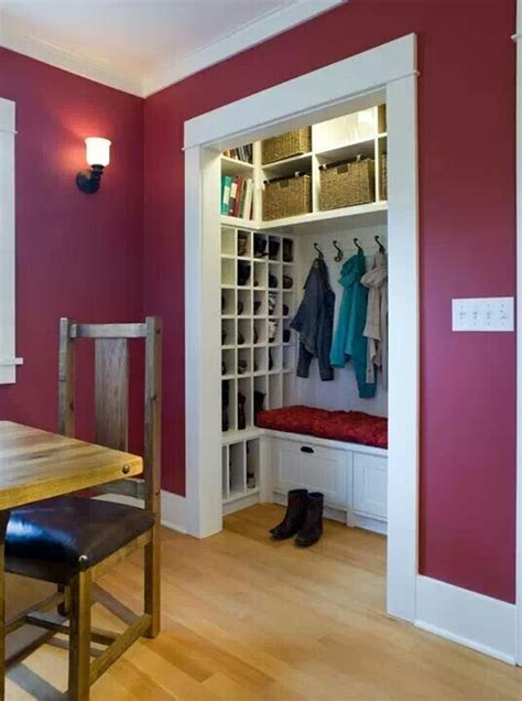 mini walk  closet   home pinterest love