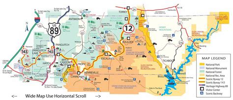 location bureau 10 maps itineraries of bryce national park bryce