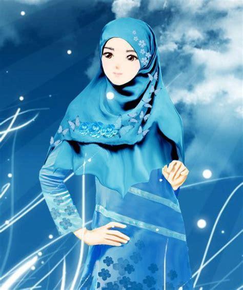 anime wanita yang imut gambar kartun muslimah yang imut dan cantik
