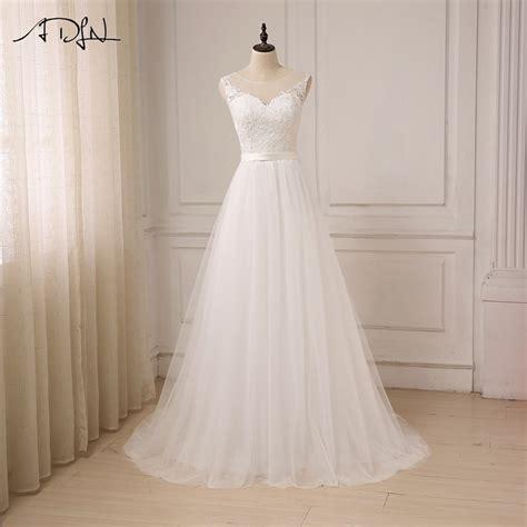 adln cheap lace wedding dress  neck tulle boho beach