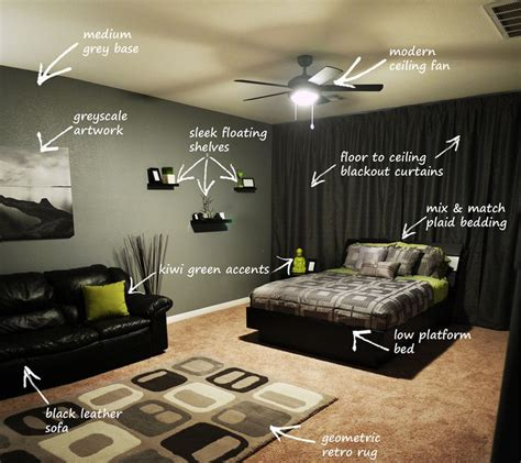 guys home interiors modern bachelor 39 s bedroom callout bedrooms modern and