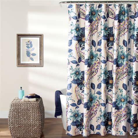 Lush Decor Floralpaisley Shower Curtain Shower Curtains
