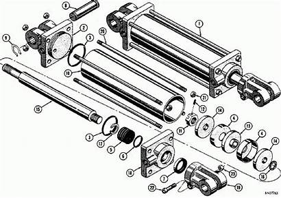 Hydraulic Cylinder Cylinders Working Seals Breakdown Drawing