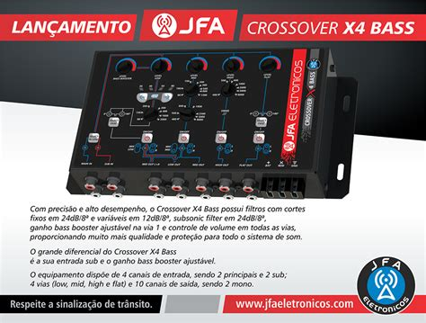 mesa crossover jfa x4 bass 4 vias automotivo mesa som automotivo loja do som automotivo