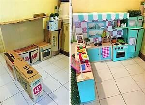 Barbie Haus Selber Bauen : kinderk che selber bauen aus karton eine einfache ~ Lizthompson.info Haus und Dekorationen