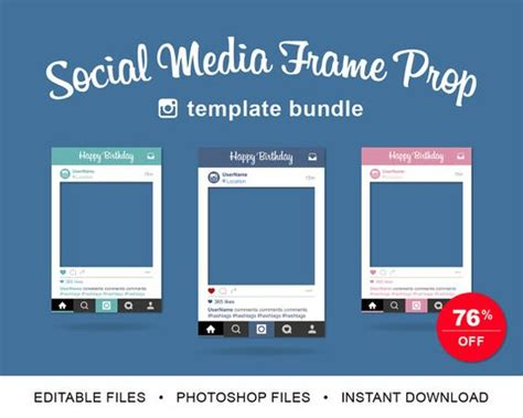 instagram frame prop template the world s catalog of ideas