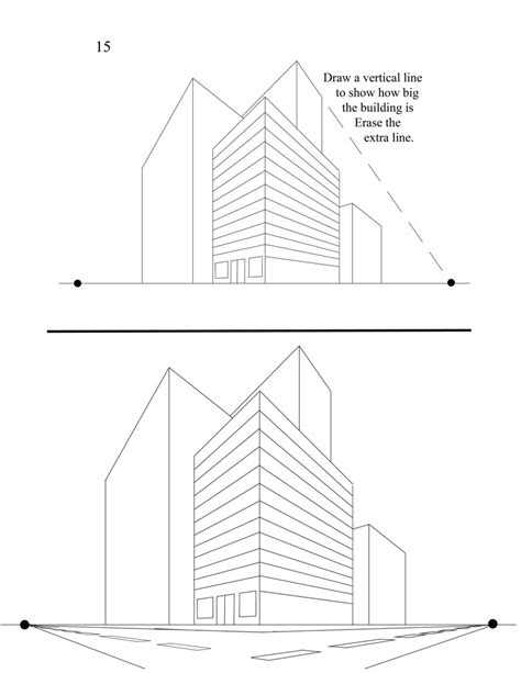 Worms Eye View Building Drawing