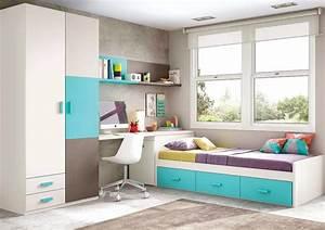 Chambre enfant garcon avec son lit 3 coffres glicerio for Chambre ado garçon avec matelas pour lit relaxation