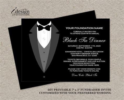 Black Tie Dinner Fundraising Invitations by