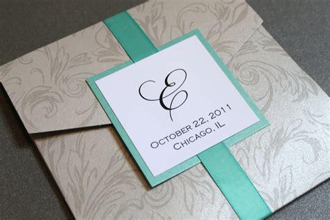 wedding pocket invitations silver damask pocket wedding invitation square by decadentdesigns