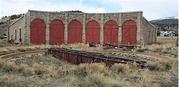 Image result for door from a rail road round house