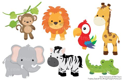 jungle animal clipart png  cliparts