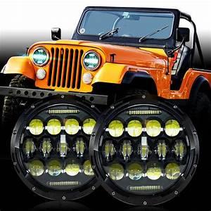 Led Headlight Headlamp Upgrade For Jeep Cj Cj5 Cj7